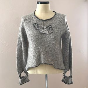 Anthro Ark Reworks Cropped Wool Sweater M